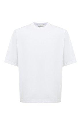 Мужская хлопковая футболка ACNE STUDIOS белого цвета, арт. BL0195 | Фото 1