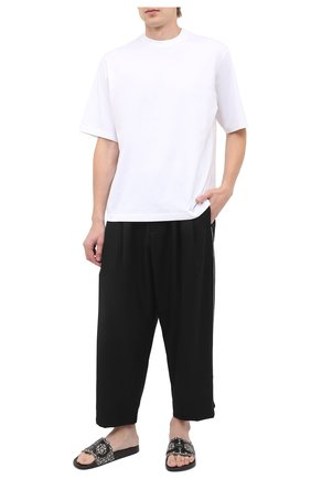 Мужские шлепанцы SALVATORE FERRAGAMO черного цвета, арт. Z-07292483E | Фото 2