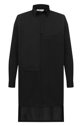 Мужская хлопковая рубашка Y-3 черного цвета, арт. FN3374/M | Фото 1