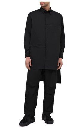 Мужская хлопковая рубашка Y-3 черного цвета, арт. FN3374/M | Фото 2