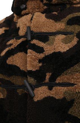 Мужская шуба из овчины SAINT LAURENT хаки цвета, арт. 625115/Y7VC2 | Фото 6