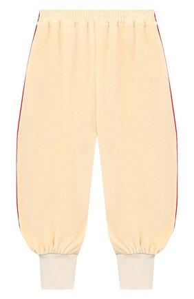 Детские хлопковые брюки GUCCI бежевого цвета, арт. 634414/XJCT8 | Фото 1