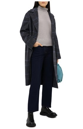 Женские кожаные ботинки ALEXANDER MCQUEEN черного цвета, арт. 633905/WHYQ1 | Фото 2