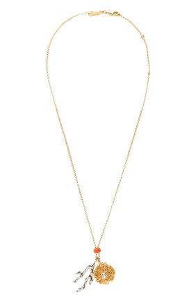 Женская кулон с цепочкой CHLOÉ золотого цвета, арт. CHC20AF040CLB | Фото 1 (Материал: Металл)