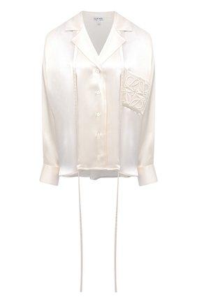 Женская рубашка LOEWE белого цвета, арт. S359337XBM | Фото 1