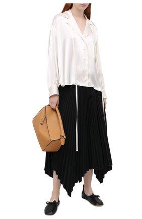 Женская рубашка LOEWE белого цвета, арт. S359337XBM | Фото 2