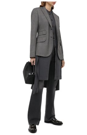 Женская кожаные дерби TOD'S черно-белого цвета, арт. XXW59C0DD20SHA   Фото 2