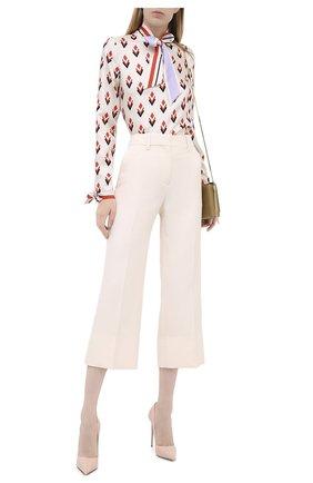 Женская кожаные туфли LE SILLA розового цвета, арт. 2101M100R1PPKAB | Фото 2