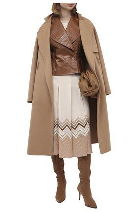 Женские замшевые ботфорты LE SILLA бежевого цвета, арт. 2155M080R1PPVST | Фото 2
