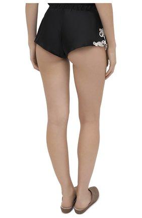 Женские шелковые шорты LA PERLA черно-белого цвета, арт. 0019228/0202 | Фото 4