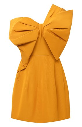 Женское платье из хлопка и вискозы OSCAR DE LA RENTA желтого цвета, арт. 20PN638M0F | Фото 1
