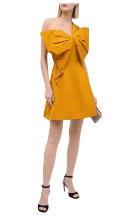 Женское платье из хлопка и вискозы OSCAR DE LA RENTA желтого цвета, арт. 20PN638M0F | Фото 2