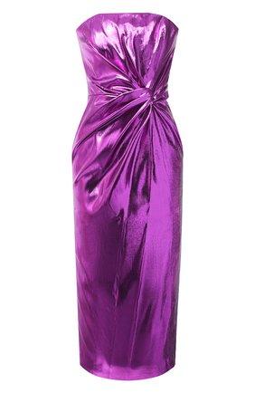 Женское платье 16 ARLINGTON фиолетового цвета, арт. D-072-AW20-PNK LAME | Фото 1
