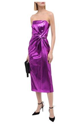Женское платье 16 ARLINGTON фиолетового цвета, арт. D-072-AW20-PNK LAME | Фото 2