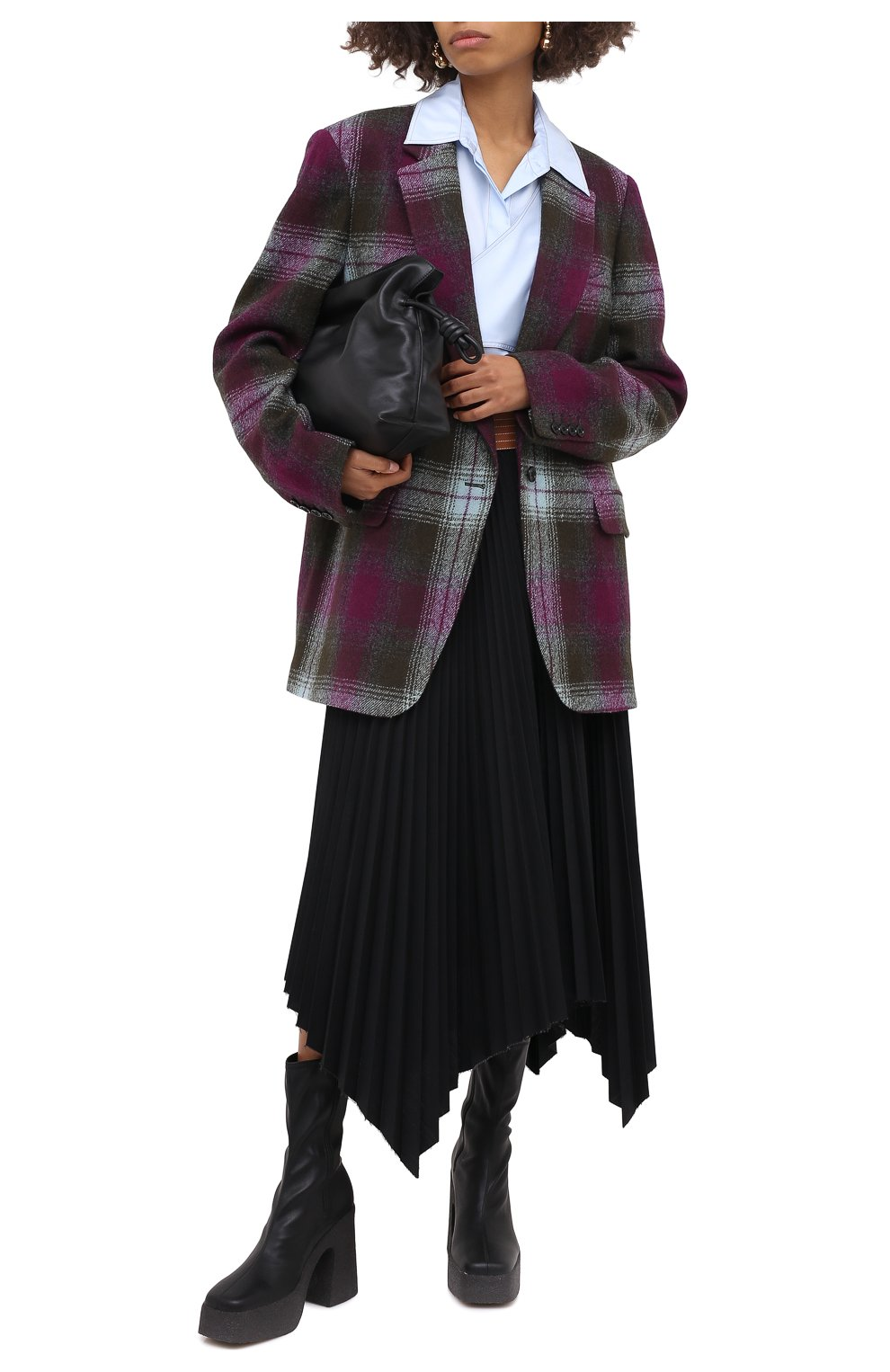 Женский шерстяной жакет DRIES VAN NOTEN хаки цвета, арт. 202-10430-1038 | Фото 2