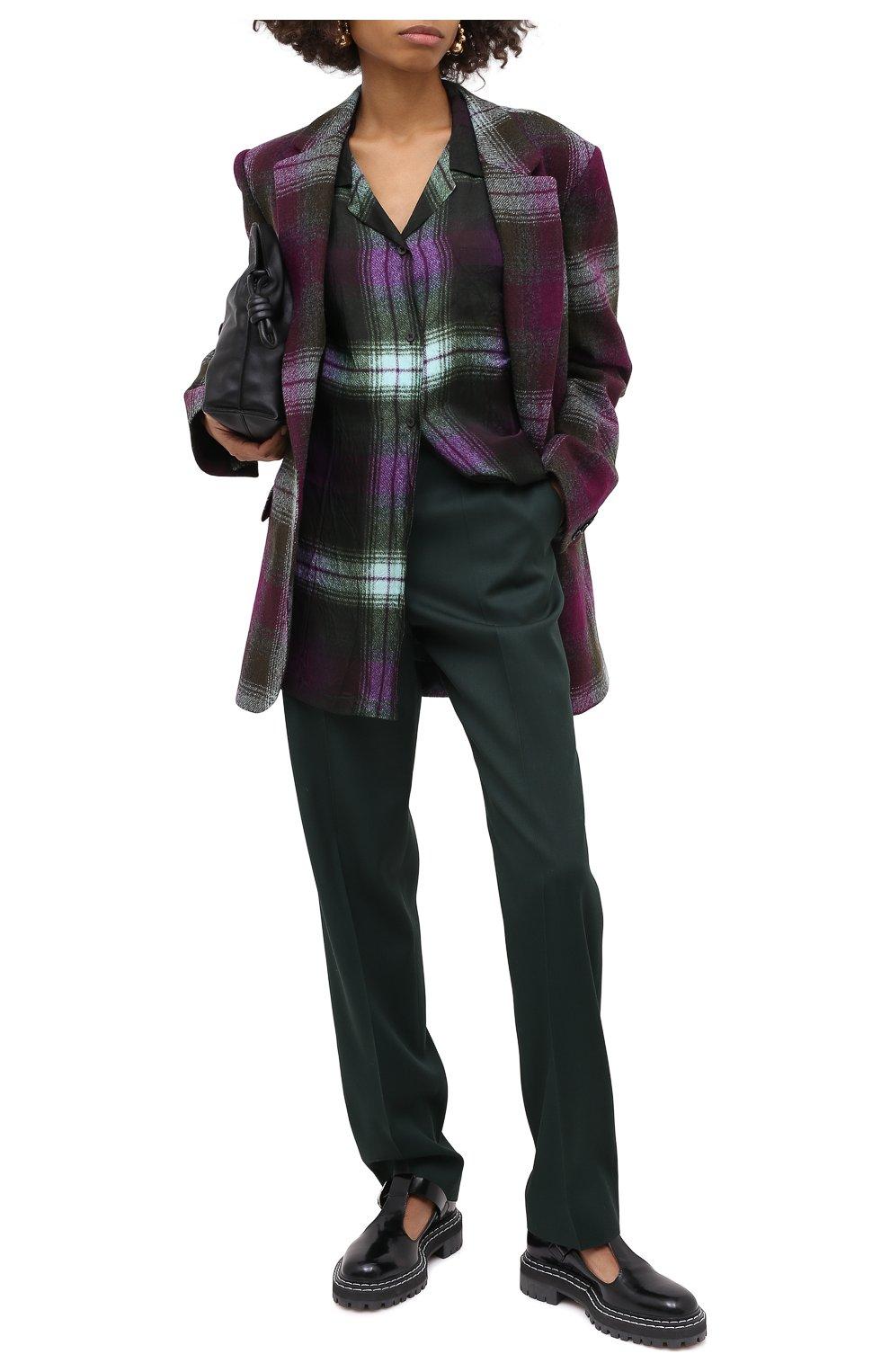 Женский шерстяной жакет DRIES VAN NOTEN хаки цвета, арт. 202-10430-1038 | Фото 3