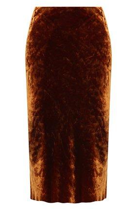 Женская юбка из вискозы и шелка DRIES VAN NOTEN коричневого цвета, арт. 202-10820-1349 | Фото 1