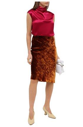 Женская юбка из вискозы и шелка DRIES VAN NOTEN коричневого цвета, арт. 202-10820-1349 | Фото 2