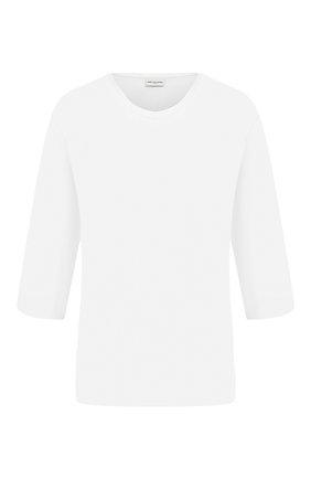 Женская хлопковая футболка DRIES VAN NOTEN белого цвета, арт. 202-11123-1616 | Фото 1