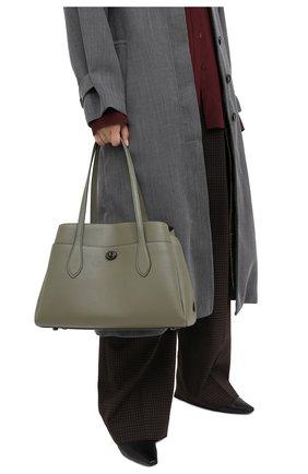 Женская сумка lora COACH хаки цвета, арт. 88340 | Фото 2
