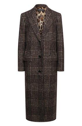 Женское шерстяное пальто DOLCE & GABBANA коричневого цвета, арт. F0AH4T/FQMHZ | Фото 1