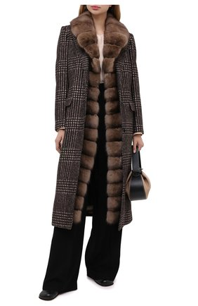 Женское шерстяное пальто DOLCE & GABBANA коричневого цвета, арт. F0AH4T/FQMHZ | Фото 2