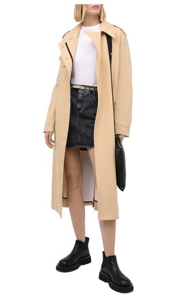 Женская джинсовая юбка STELLA MCCARTNEY серого цвета, арт. 600450/S0H05 | Фото 2
