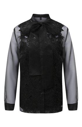 Женская шелковая блузка ESCADA черного цвета, арт. 5033659 | Фото 1