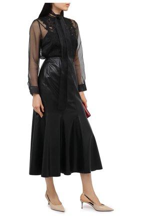 Женская шелковая блузка ESCADA черного цвета, арт. 5033659 | Фото 2