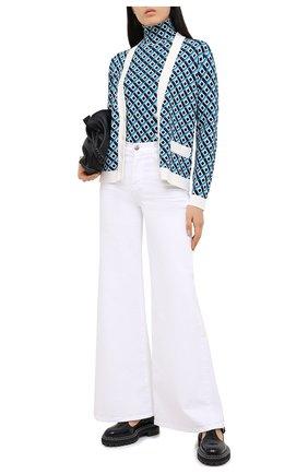 Женский пуловер из вискозы ESCADA голубого цвета, арт. 5033890 | Фото 2