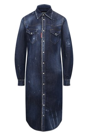 Женское джинсовое платье DSQUARED2 синего цвета, арт. S75CV0320/S30341 | Фото 1