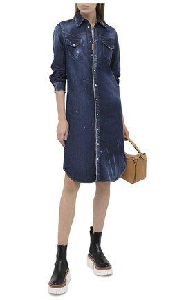 Женское джинсовое платье DSQUARED2 синего цвета, арт. S75CV0320/S30341 | Фото 2