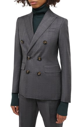 Женский шерстяной костюм DSQUARED2 темно-серого цвета, арт. S75FT0214/S53015 | Фото 2