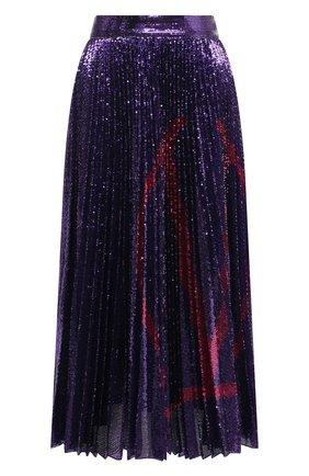 Женская юбка с пайетками VALENTINO фиолетового цвета, арт. UB3MD02E5NF | Фото 1