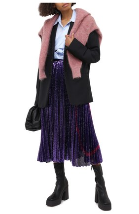 Женская юбка с пайетками VALENTINO фиолетового цвета, арт. UB3MD02E5NF | Фото 2