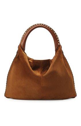 Женская сумка valentino garavani rockstud VALENTINO коричневого цвета, арт. UW2B0H07/DZQ | Фото 1