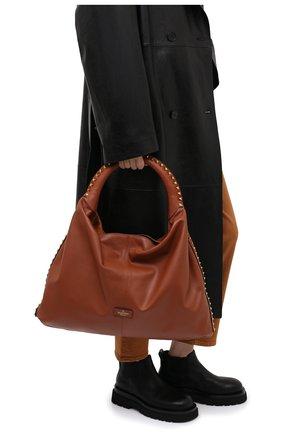 Женская сумка valentino garavani rockstud VALENTINO коричневого цвета, арт. UW2B0H07/DZQ | Фото 2