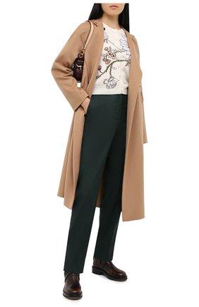 Женские кожаные ботинки diane CHLOÉ коричневого цвета, арт. CHC20U315L2 | Фото 2