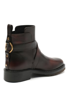 Женские кожаные ботинки diane CHLOÉ коричневого цвета, арт. CHC20U315L2 | Фото 4