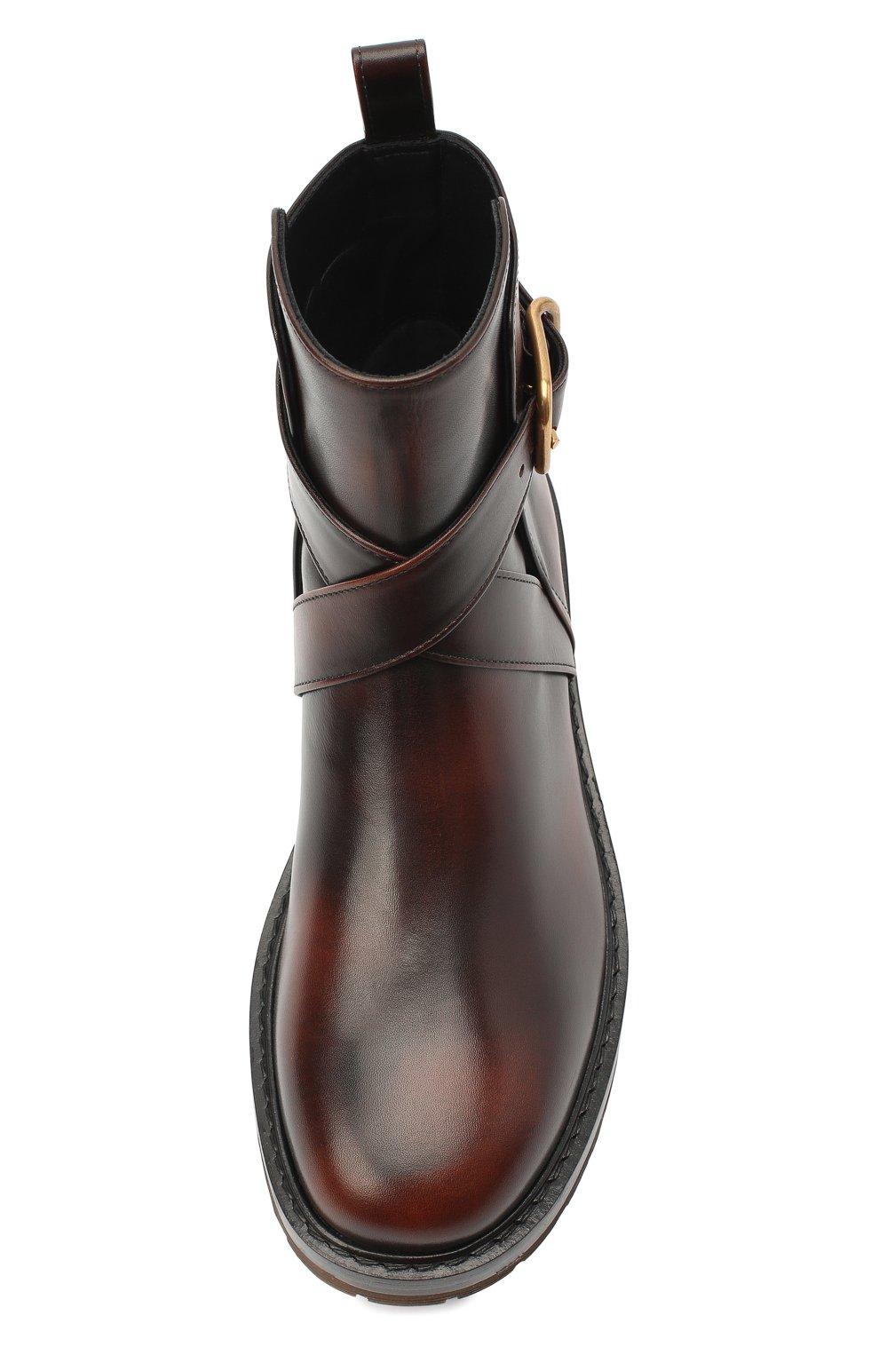 Женские кожаные ботинки diane CHLOÉ коричневого цвета, арт. CHC20U315L2 | Фото 5