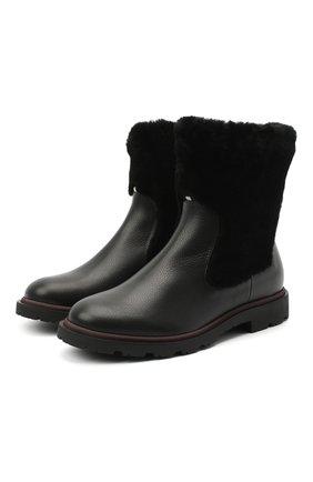 Женские кожаные ботинки BALLY черного цвета, арт. GRADY-FUR/00 | Фото 1