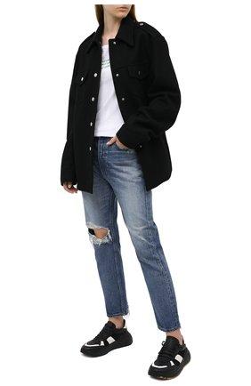 Женские джинсы MOUSSY голубого цвета, арт. 025DAC11-1260 | Фото 2