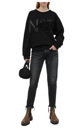 Женские джинсы MOUSSY черного цвета, арт. 025DAC11-2450 | Фото 2