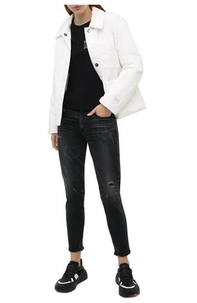 Женские джинсы MOUSSY черного цвета, арт. 025DAC12-1040 | Фото 2