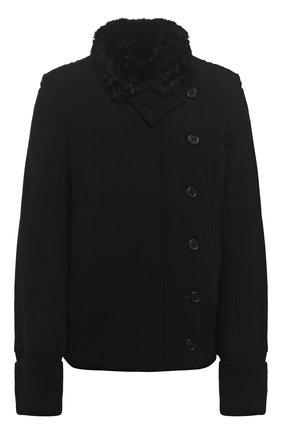 Женская куртка ANN DEMEULEMEESTER черного цвета, арт. 2002-1006-P-184-099 | Фото 1