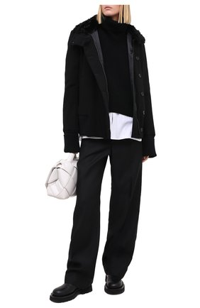 Женская куртка ANN DEMEULEMEESTER черного цвета, арт. 2002-1006-P-184-099 | Фото 2