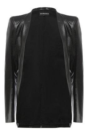 Женский кожаный жакет ANN DEMEULEMEESTER черного цвета, арт. 2002-1009-P-272-099 | Фото 1