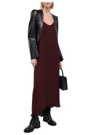 Женский кожаный жакет ANN DEMEULEMEESTER черного цвета, арт. 2002-1009-P-272-099 | Фото 2
