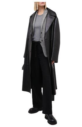 Женские шерстяные брюки ANN DEMEULEMEESTER черного цвета, арт. 2002-1414-P-170-099 | Фото 2