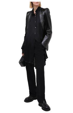 Женская блузка из вискозы и шелка ANN DEMEULEMEESTER черного цвета, арт. 2002-2014-P-122-099 | Фото 2